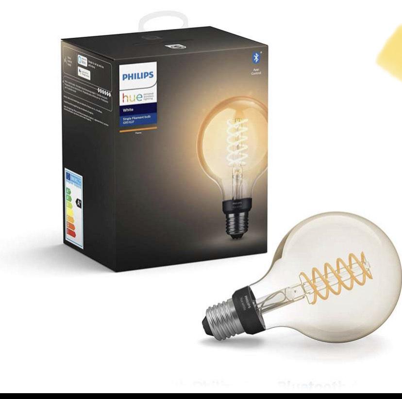 Philips Hue White Filament Single Smart LED G93 Globe [E27 Edison Screw] - £17.24 prime / £21.73 nonPrime Amazon