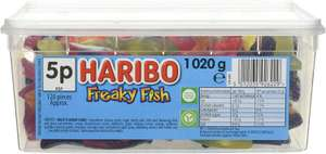 Haribo Tub Freaky Fish - Fruit Flavour Gum Sweets 1020g £4.07 or £3.87 S&S (+£4.49 NP) Delivered @ Amazon