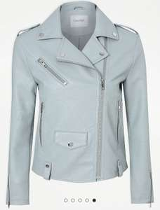 Light Blue Leather Effect Biker Jacket £12 at Asda George - free Click & Collect / £2.95 delivery