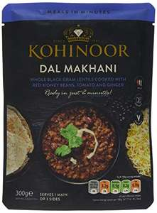 Kohinoor Dal Makhani 300g Pack of 6 £4.19 prime (+£4.49 nonPrime) at Amazon
