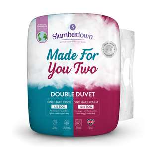 Slumberdown Made For You Two Duvet - £17.59 (Double) / £19.19 (King) with Voucher + Free Delivery at Sleepseeker