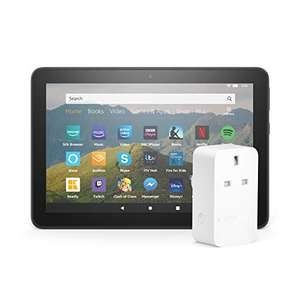 """Fire HD 8 Tablet 8"""" HD display 32GB Black with Ads + Amazon Smart Plug (UK Mainland Delivery) Sold by Amazon EU @ Amazon"""