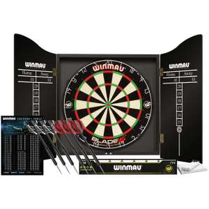 WINMAU Dartboard, cabinet and 2 sets of darts £65 (Free Click & Collect) @ Argos