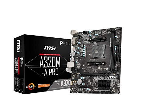 MSI A320M-A PRO Motherboard mATX, AM4 - £33.10 @ Amazon