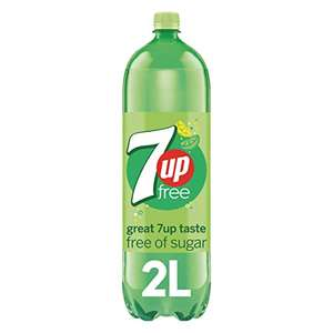 7UP Free - Lemon & Lime Flavoured Fizzy Drink - Sugar-Free - 2 Litre - £1 (+£4.49) @ Amazon