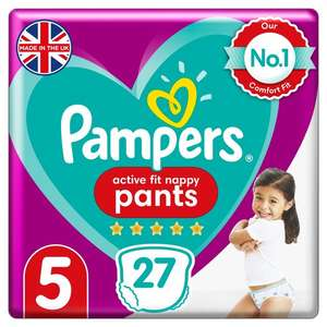 AVAILABLE AGAIN! Get a voucher for a free pack of pampers active fit nappies - Just fill in your details