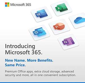 Microsoft 365 Personal 15 Months subscription Office apps 1 user 6 Devices + McAfee Total Protection 2021 - £39.99 @ Amazon