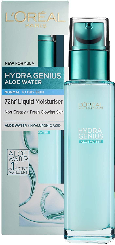 L'Oreal Paris Hydra Genius Hyaluronic Acid + Aloe Liquid Moisturiser for Normal to Dry Skin, 70 ml - £6.59 (+£4.49 Non Prime) @ Amazon