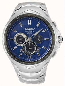 SEIKO COUTURA Mens Solar Chronograph Watch SSC749P1 £224.99 at gbwatchshop