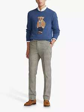 Polo Ralph Lauren Bear Jumper, Rustic Navy Heather - £244 at John Lewis & Partners