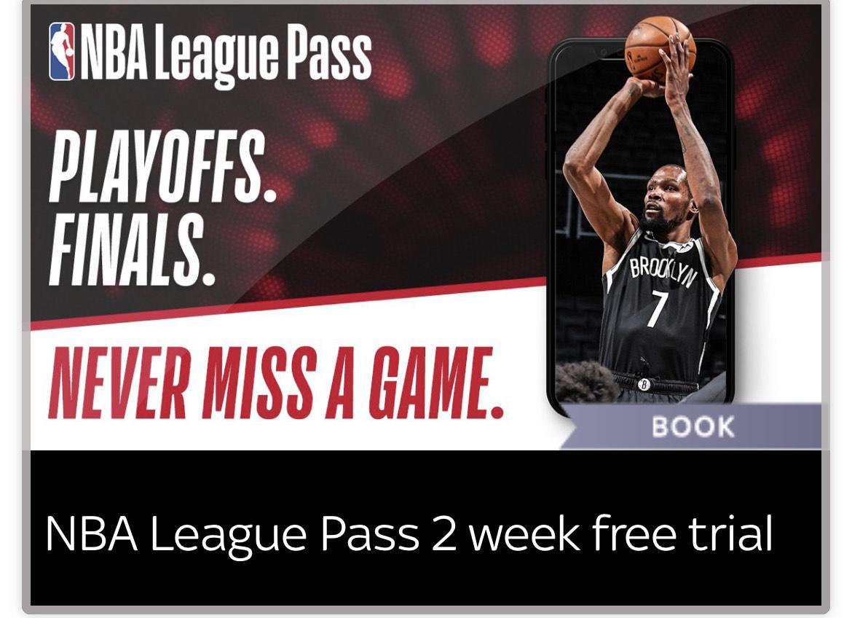 NBA Playoff Finals on NBA League Pass via Sky VIP (2 week trial)