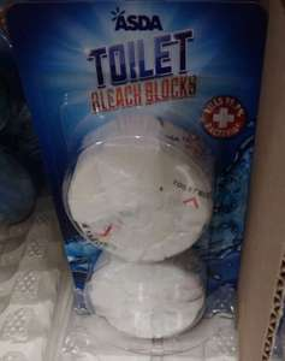 Toilet bleach blocks 2pk 30p at Asda Queensferry