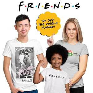 30% off Friends Clothing & Accessories using discount code + Free Delivery @ Popgear