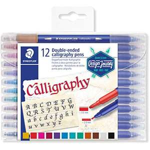 STAEDTLER Double-Ended Calligraphy Pen Pack of 12 Assorted Colours - £5.63 @ Amazon Prime (+£4.49 Non Prime)