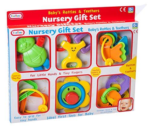 Fun Time Baby's Rattles & Teethers Nursery Gift Set £2.95 (Prime) + £4.49 (non Prime) at Amazon
