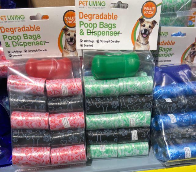 400 dog bags £3.49 at ASDA Cardiff