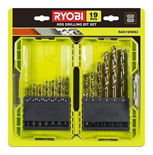 Ryobi 19pcs (3.5mm to 10mm) HSS Drill Bit Set, 19 Piece - £11.30 + £4.49 NP @ Amazon