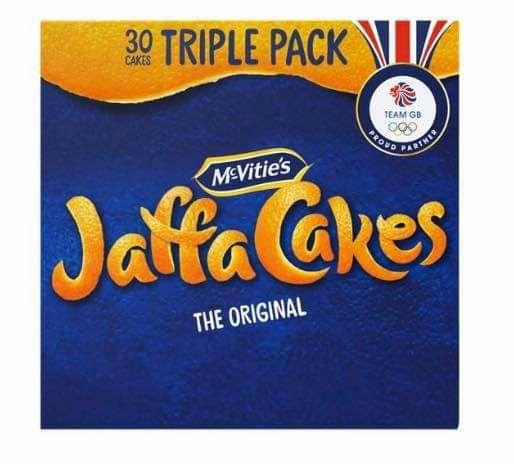 McVities Jaffa Cakes The Original Triple Packs (30 Cakes) are £1.50 Clubcard Price @ Tesco