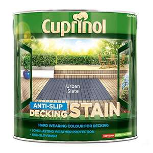 Cuprinol Anti Slip Decking Stain Urban Slate 2.5 L delivered with prime £17.11 Prime / £21.60 Non Prime at Amazon