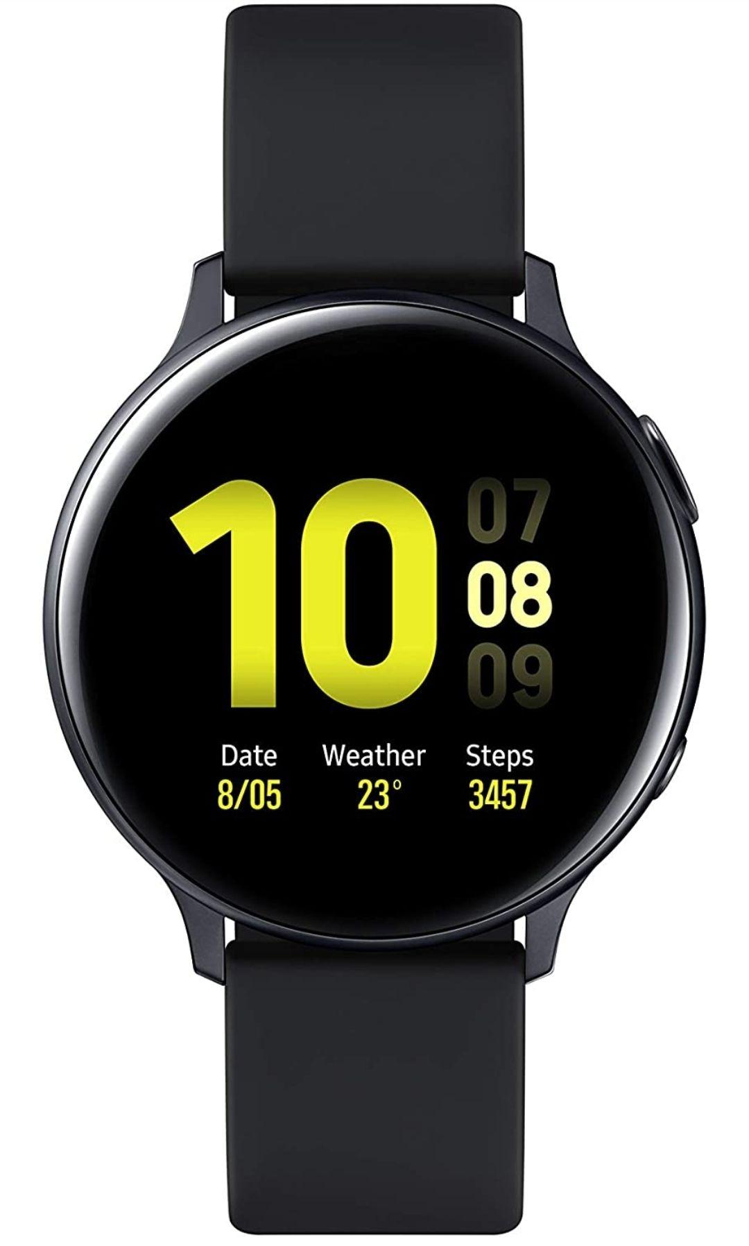 Samsung Galaxy Watch Active2 smartwatch 44mm - Black SAMOLED - £133.62 (UK Mainland Delivery) Sold by Amazon EU @ Amazon