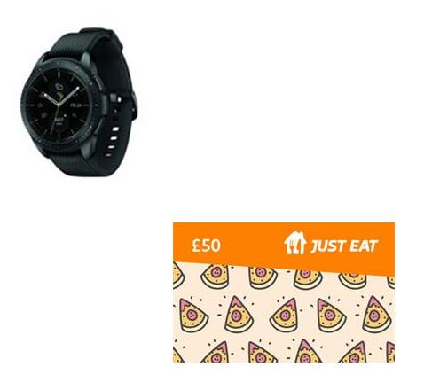 Samsung Galaxy Watch 4G 42mm Black - Damaged Box + Just Eat £50 Gift Card £199 @ BT Shop