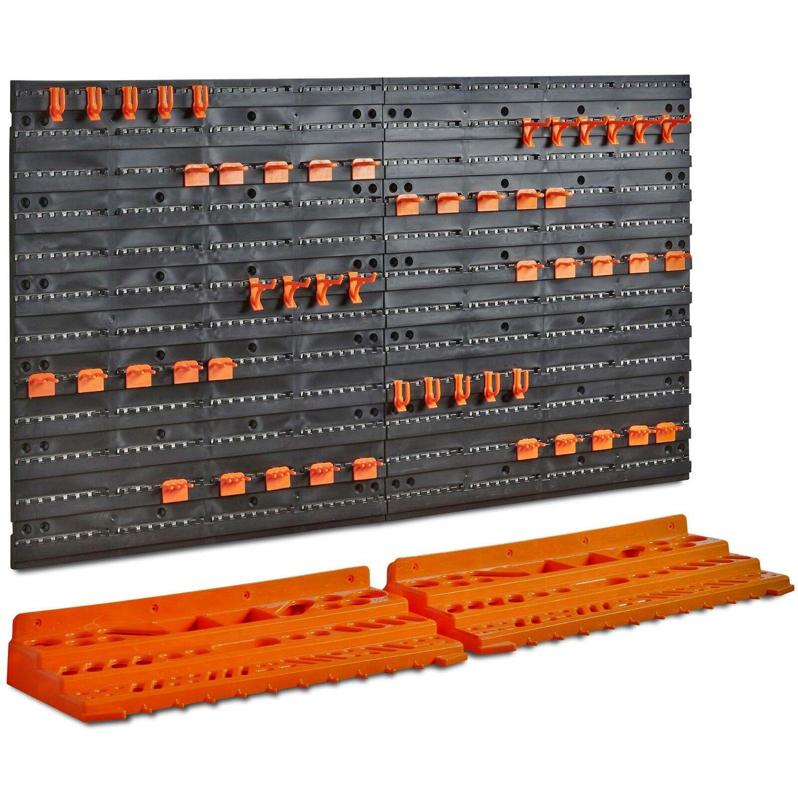 VonHaus Pegboard & Shelf Tool Organiser - Garage Wall Mounted Tool Holder Rack £19.99 (UK Mainland & NI) @ Vonhaus