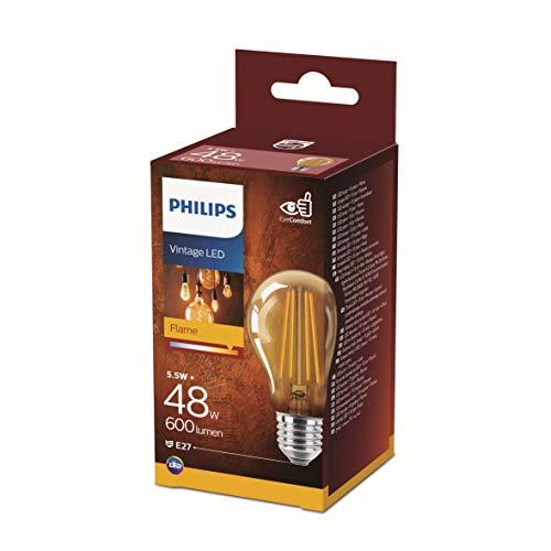 Philips Vintage LED Flame 5.5W=48W Equivalent, 600 Lumen E27 Bulb £3.20 / £7.69 Non-Prime @ Amazon