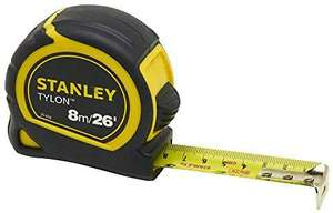 Stanley 0-30-656 Pocket Tape, 8m/26', 25mm, Yellow/Black £4.46 Prime / £8.95 non prime@ Amazon