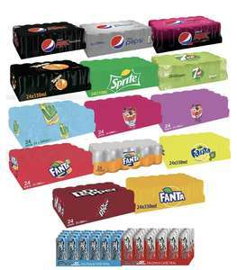 96 Cans of Soft Drink (4 x Coke Zero / Pepsi / Fanta / Tango / Lemonade 24 packs) £24 @ FarmFoods (voucher needed)