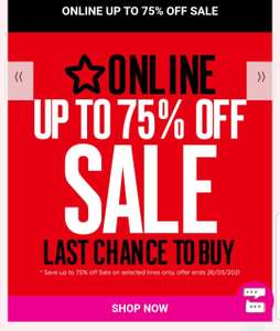 Superdrug sale up to 75% Off on selected lines only + click & collect free + Free Delivery spend £10 or more @ Superdrug