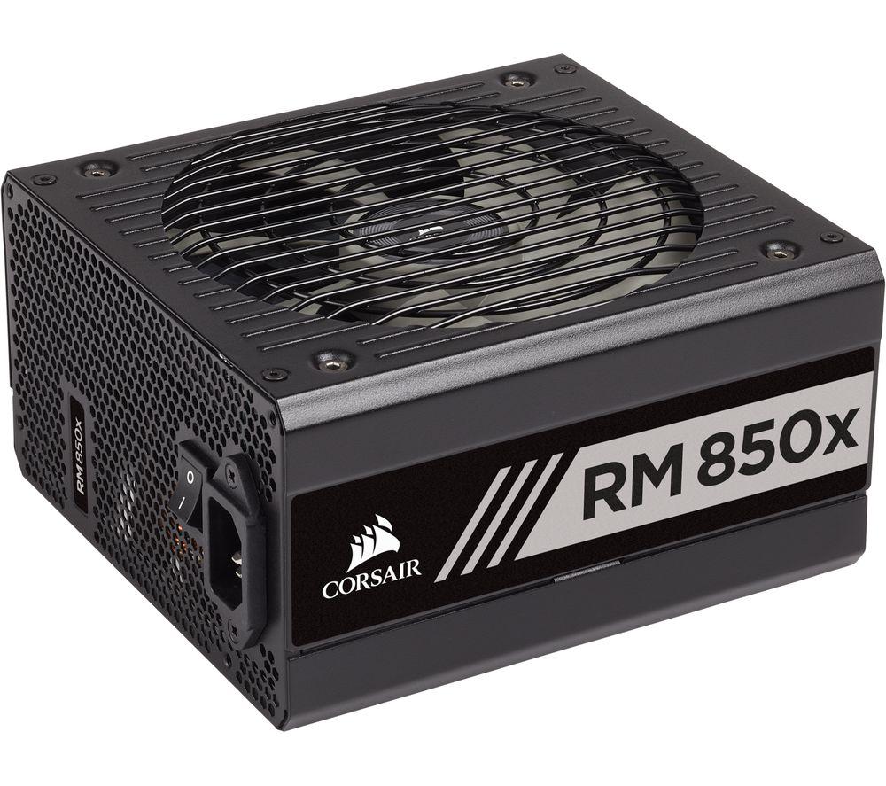 Corsair RM850x 80+ Gold 850W Fully Modular ATX Power Supply Unit (10 years warranty), £105 at Currys PC world
