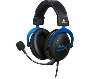 HyperX Cloud PS4 & PS5 Gaming Headset - Black & Blue - £32.99 delivered with code @ Currys PC World