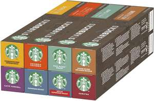 Starbucks Nespresso 8 Flavours Variety Pack 120 Capsules: £18.99 Minimum Purchase of £22.50 / £3 delivery (BBE 28 Feb 2021) Approved Food