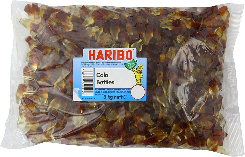 Haribo Cola Bottles Bulk Bag 3Kg(NSFV) £9.68 (£4.49 p&p non prime) £8.23/£9.20 s&s @ Amazon