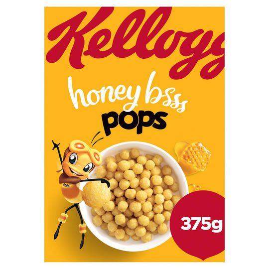 Kellogg's Honey Pops Cereal 375g £1 @ Iceland