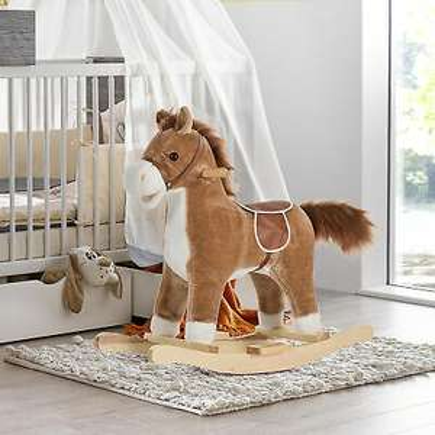 HOMCOM Kids Plush Rocking Horse w/ Moving Mouth Tail + Sounds £33.14 using code @ eBay / mhstarukltd