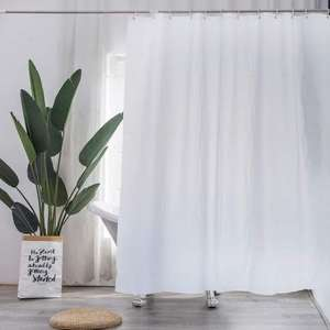Plastic shower curtain With 12 hooks in various colours for £3 delivered @ WeeklyDeals4Less