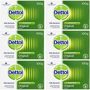 Dettol - Original AntiBacterial Soap (100g Bars x 12) £4.99 (+£4.99 Non Prime) Delivered @ Sold by EI - Retail and Fulfilled by Amazon