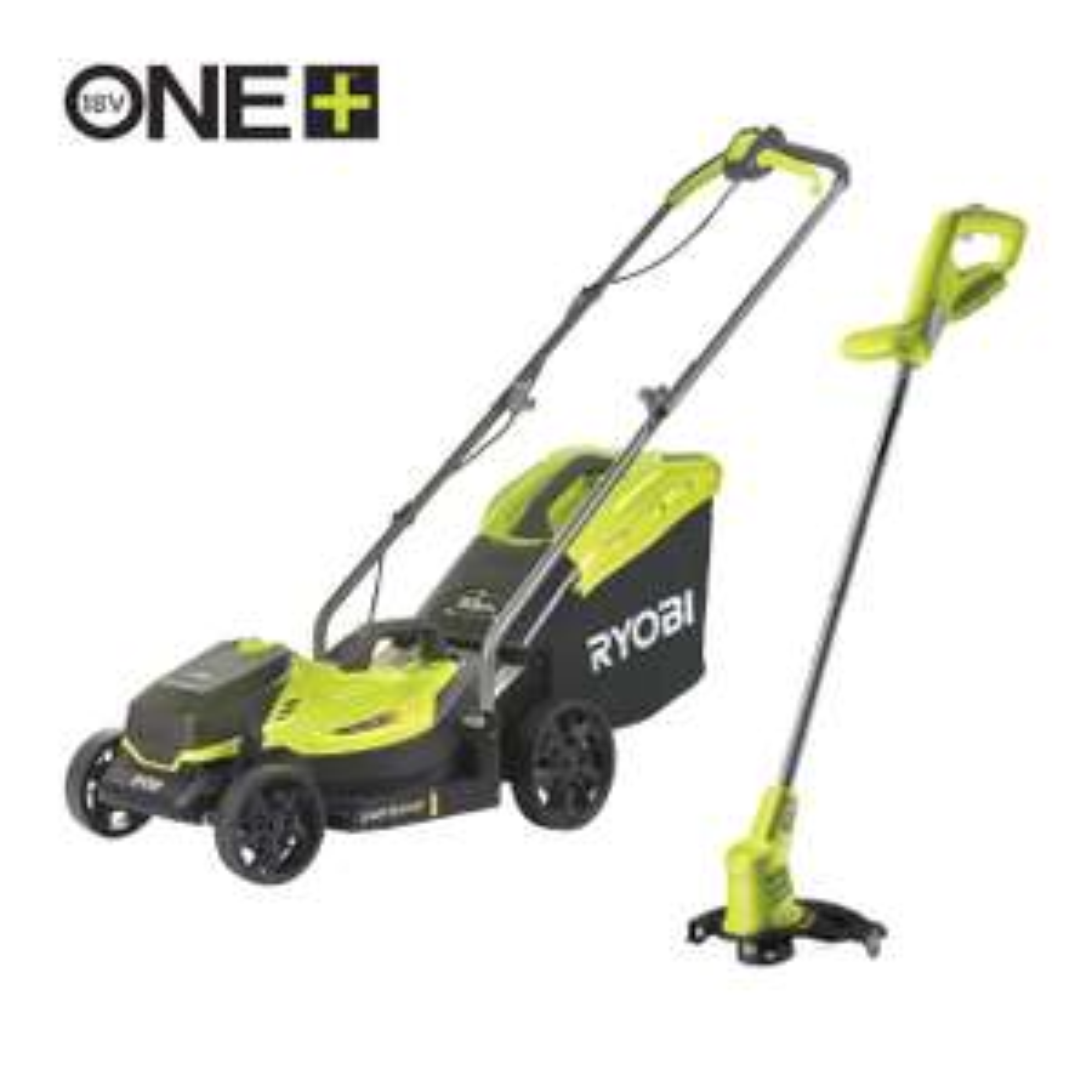 Ryobi 18V ONE+™ Cordless 33cm Lawnmower & 25cm Grass Trimmer & 1 x 4.0Ah battery + charger £209.99 at Ryobi UK