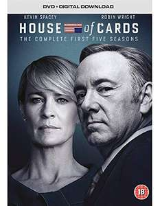 House of Cards - Season 1-5 [DVD] £5.74 (+£2.99 NP) Delivered @ Sold by NextDayEntertainment and Fulfilled by Amazon