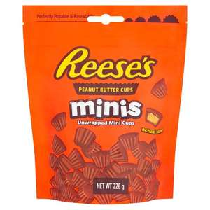 Reese's Peanut Butter Cups Minis Pouch 226G £3 clubcard price @ Tesco
