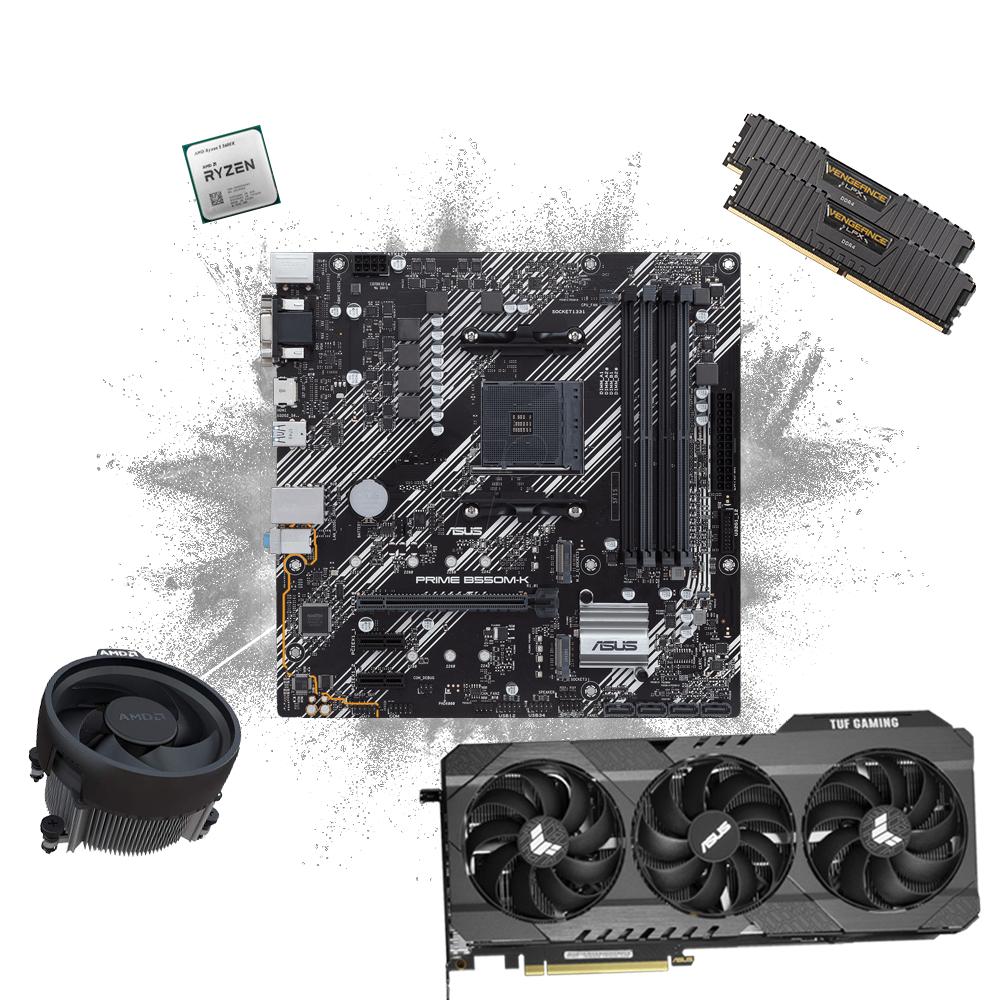 AlphaSync AMD Ryzen 5 5600X, 16GB RAM, RTX 3070, Microsoft Windows 10 Home Custom PC Bundle from £1,399.98 at Ebuyer