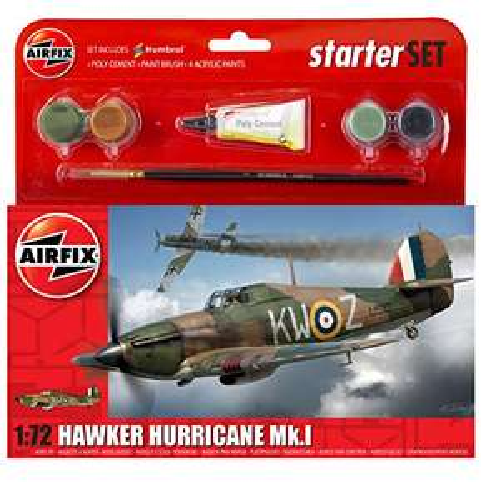 Airfix A55111 1:72 Scale Hawker Hurricane MkI Starter Gift Set £8.50 Prime / £12.99 Non Prime @ Amazon