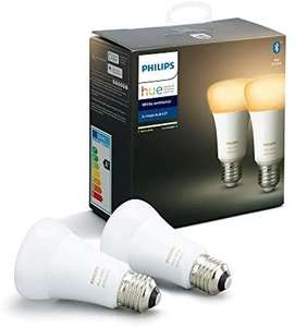 Philips Hue White Ambiance Smart LED Bulb Twin Pack [E27 Edison Screw] with Bluetooth £24.43 @Amazon