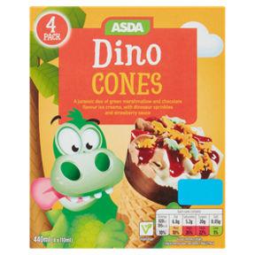 Asda Dino Cones 4 Pack are 50p @ Asda Rochdale