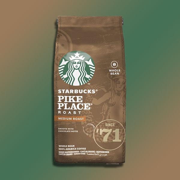 6 x starbucks pike place medium roast whole coffee beans 200g packs 1.2kg (BBE 18.09.2021) £9 @ Yankee Bundles