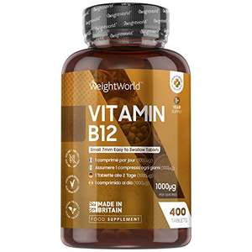 Vitamin B12 Tablets High Strength - 1000mcg - 400 Tablets £8.49 + £4.49 NP @ Amazon