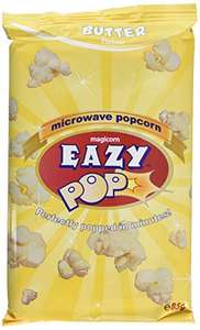 Eazypop Microwave Popcorn Butter Flavour 85g (Pack of 16) £3.86 + £4.49 Non Prime / 3.67 S&S @ Amazon Prime