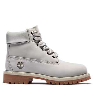 Premium 6 Inch Boot for Youth in Light Grey (Limited Sizes) - £40.50 for 1 pair or £32.40 for 2 pairs using codes delivered @ Timberland