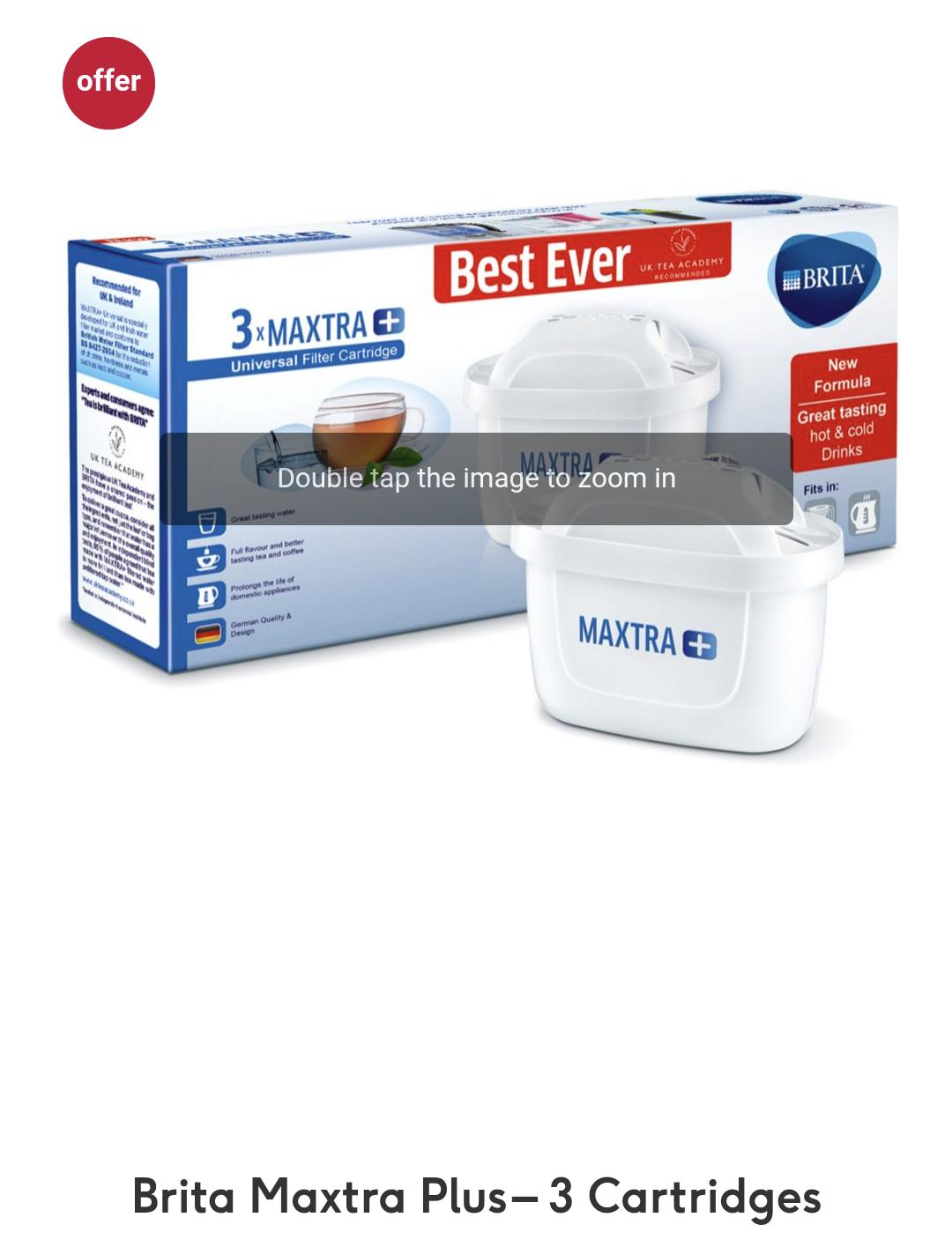 Brita MAXTRA filter x 3 £11.15 @ Boots + £1.50 click and collect